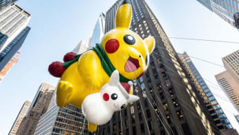 Pikachu at the 2018 Macy's Thanksgiving Day Parade