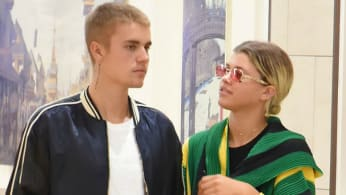 This is a photo of Justin Bieber and Sofia Richie.
