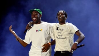 Recording artists Tyler, The Creator (L) and ASAP Rocky
