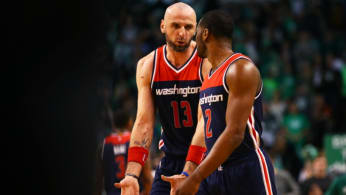 John Wall and Marcin Gortat.