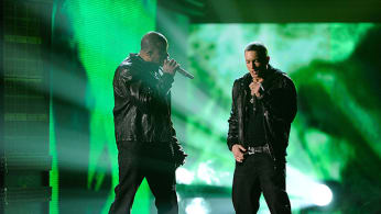 Dr. Dre and Eminem at The 53rd Annual GRAMMY Awards
