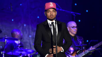 Chance the Rapper performs during the Pre-GRAMMY Gala and GRAMMY event.