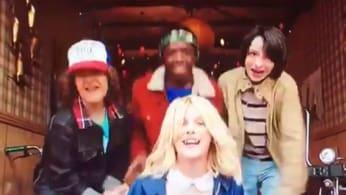 Stranger Things Cast Raps at Golden Globes