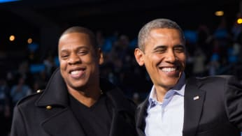 Jay Z and Barack Obama