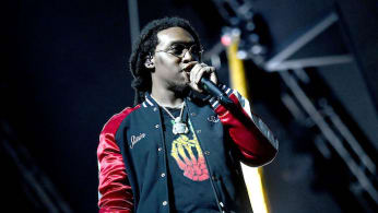 Rapper Takeoff of the hip hip group Migos.