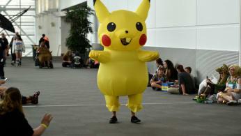A Pikachu costume at Denver Comic-Con 2018.