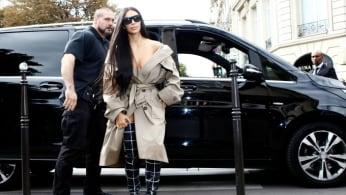 Kim Kardashian appears in Paris prior to robbery in October 2016.