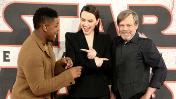 Star Wars cast at London premiere