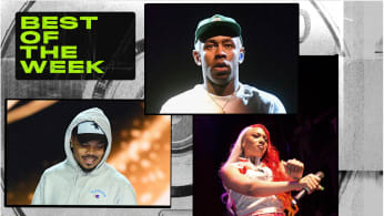 Best New Music graphic featuring Chance The Rapper, Megan Thee Stallion and Tyler, The Creator.