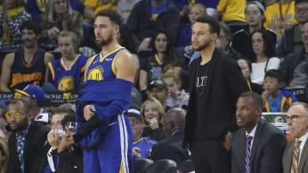 Klay Thompson Steph Curry Nets Warriors 2018
