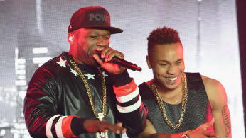 "Curtis ""50 Cent"" Jackson (L) and Rotimi Akinosho"
