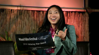 Awkwafina receives the 'Shining Star Award' at the Maui Film Festival.