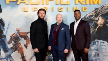'Pacific Rim Uprising' stars Scott Eastwood and John Boyega with director Steven S. DeKnight