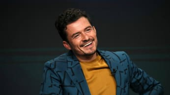 Orlando Bloom of 'Carnival Row' speaks onstage