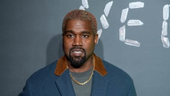 Kanye West attends the the Versace fall 2019 fashion show