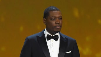 Michael Che speaks onstage during the 70th Emmy Awards