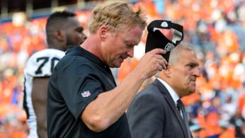 Head coach Jon Gruden of the Oakland Raiders.
