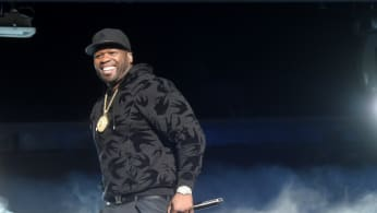 "Curtis ""50 cent"" Jackson performs"