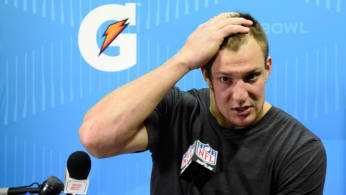 Rob Gronkowski after Super Bowl LII.