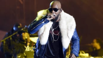 R. Kelly performs.