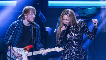 Beyonce and Ed Sheeran perform onstage