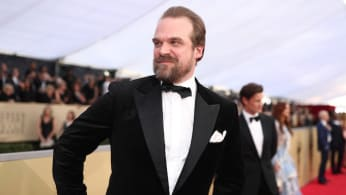 David Harbour attends the 24th Annual Screen Actors Guild Awards.