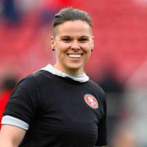 San Francisco 49ers offensive assistant Katie Sowers