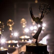 An Emmy statue