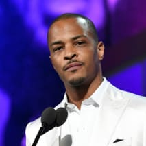 T.I. speaks onstage at the 2019 BET Awards at Microsoft Theater
