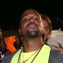 "Kanye West attends the Nas ""Nasir"" Album Listening Session."