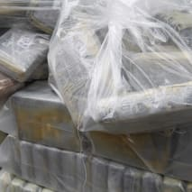 The bags of cocaine seized during a special operation .