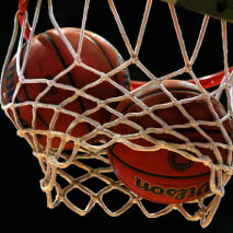 two-basketball-net
