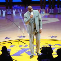 Magic Johnson Lakers Staples Center 2016