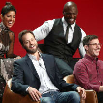 Brooklyn Nine-Nine' speak during the Television Critics Association Press Tour