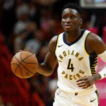 Victor Oladipo #4 of the Indiana Pacers.
