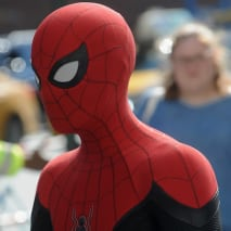 Tom Holland on the set of 'Spiderman: Far From Home.'