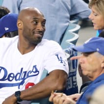 Kobe Bryant attends The Los Angeles Dodgers Game.