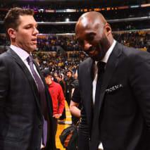 Luke Walton and Kobe Bryant
