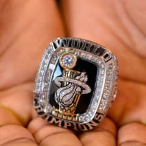 Norris Cole of the New Orleans Pelicans shows off his Championship Ring