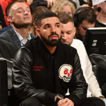Drake is seen during a game