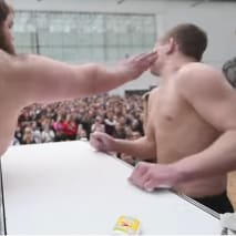 This is a photo of Russian Slapping.