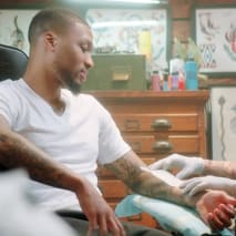 Damian Lillard New 'Hulu Live Sports' Tattoo