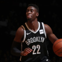 Caris LeVert #22 of the Brooklyn Nets.