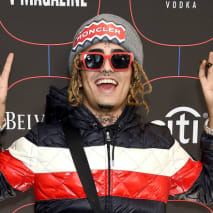 Lil Pump arrives at the Warner Music Group Pre-Grammy Celebration