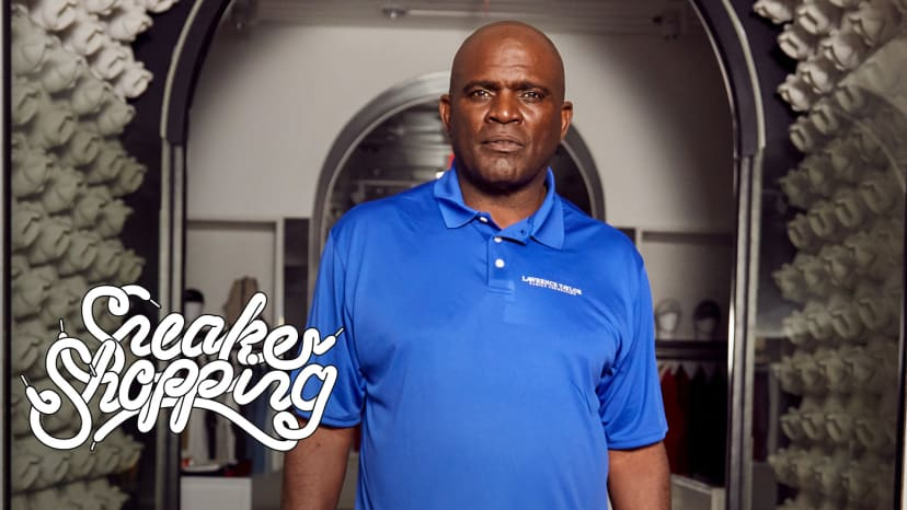 Lawrence Taylor Goes Sneaker Shopping With Complex