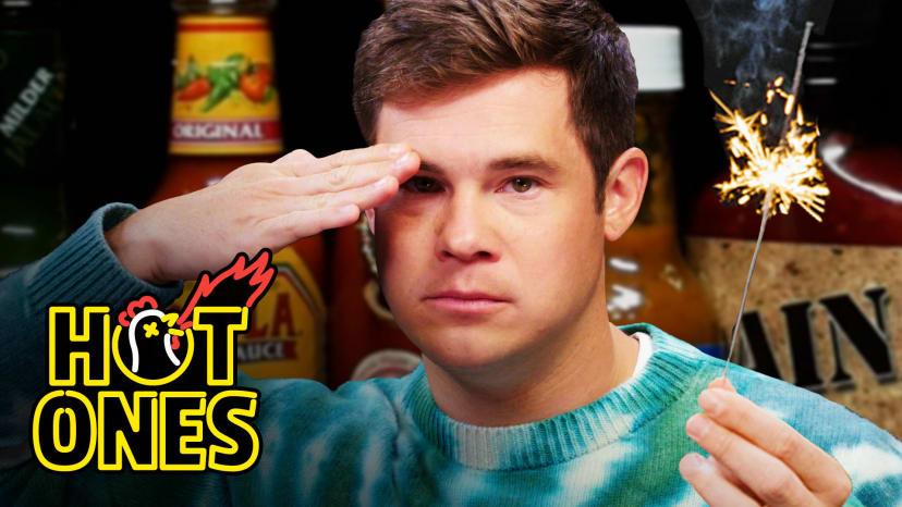 Adam Devine Gets Patriotic While Eating Spicy Wings | Hot Ones