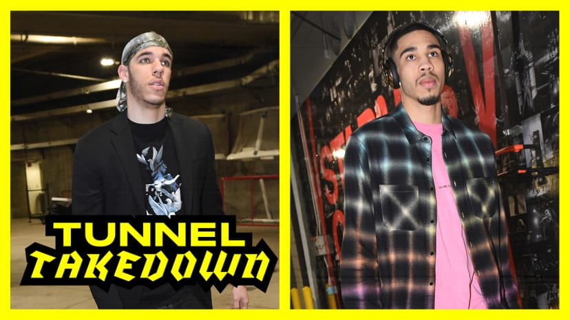Lonzo Ball Flops and Jayson Tatum Shows Out in Amiri | Tunnel Takedown