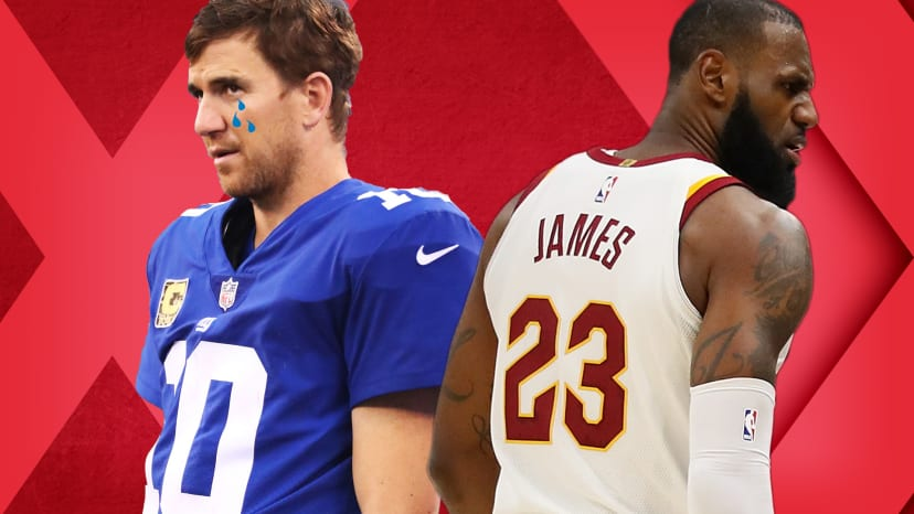 eli benched lebron ejected out of bounds
