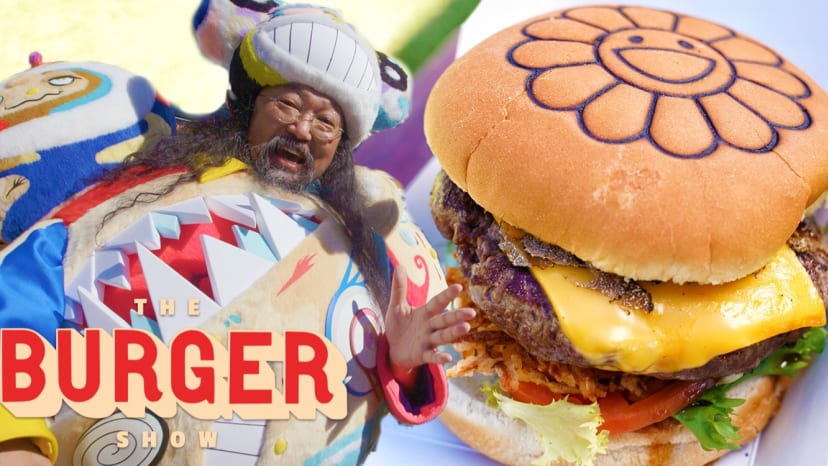 Takashi Murakami's Japanese Tempura Burger is a Work of Art | The Burger Show