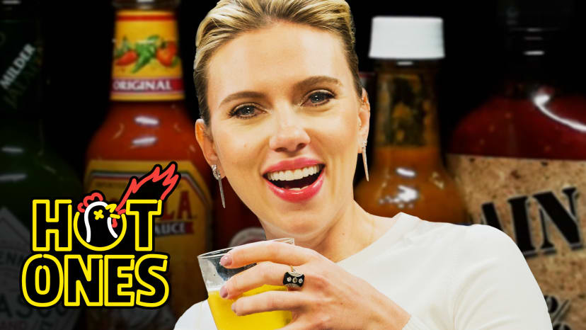 Scarlett Johansson Tries To Not Spoil the Avengers While Eating Spicy Wings | Hot Ones